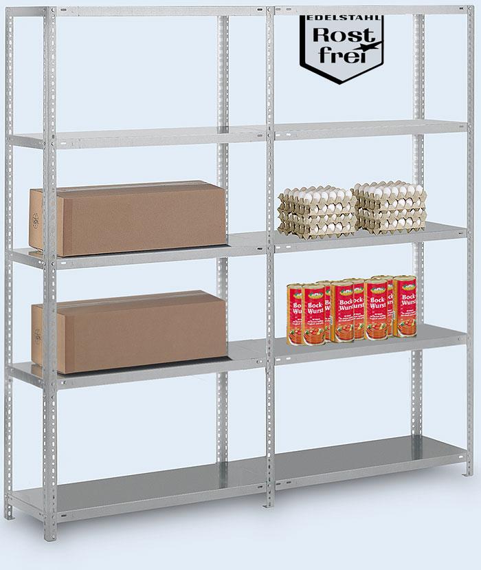 edelstahlregale schraubregale aus edelstahl. Black Bedroom Furniture Sets. Home Design Ideas